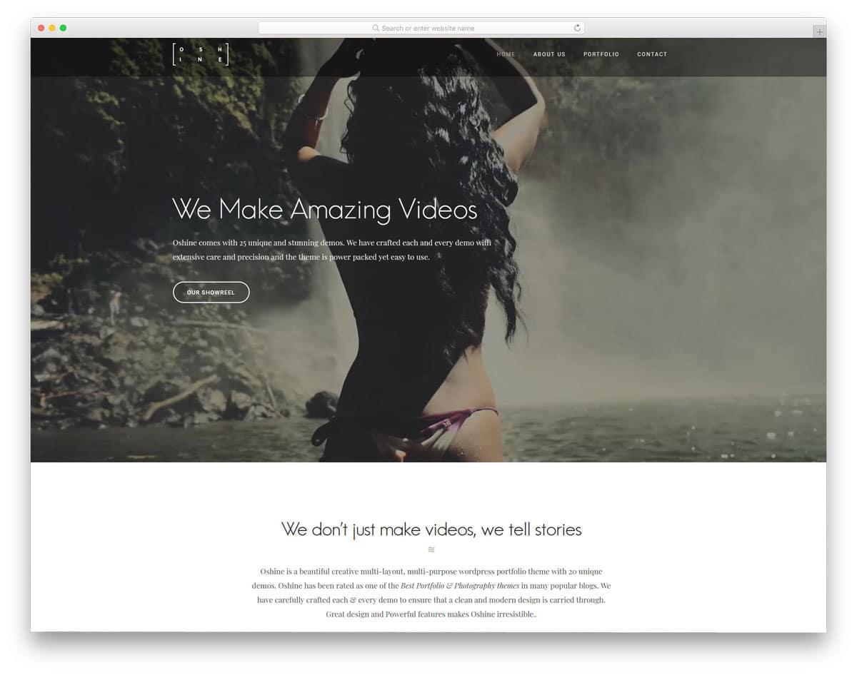 video agency WordPress theme