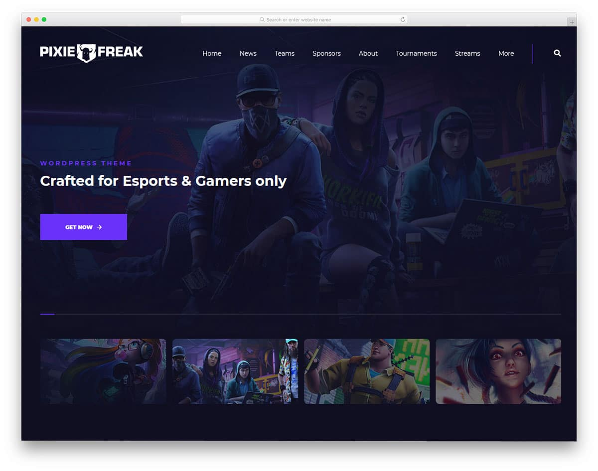 WordPress live streaming theme for gamers