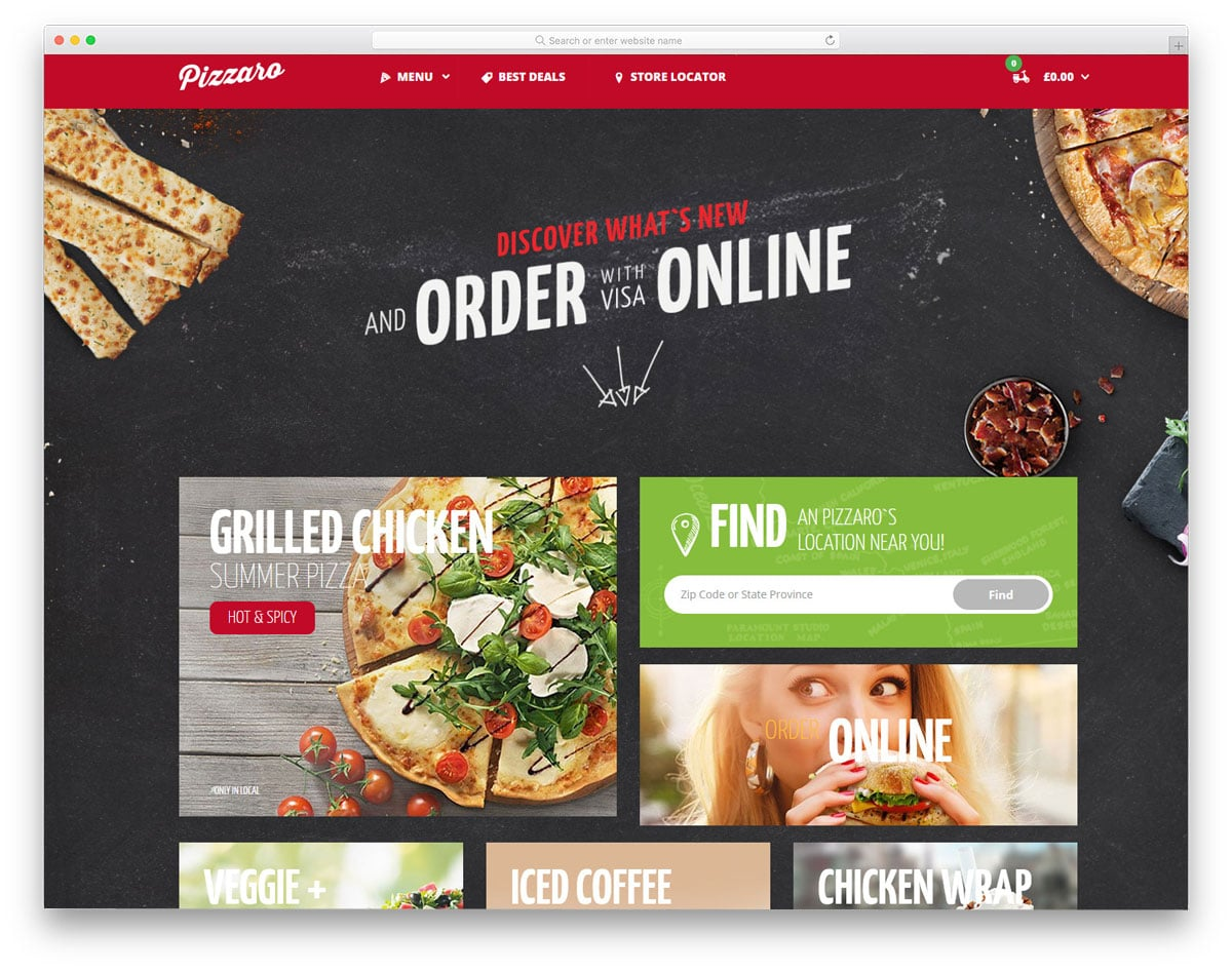 user-friendly fast food and food truck WordPress themes