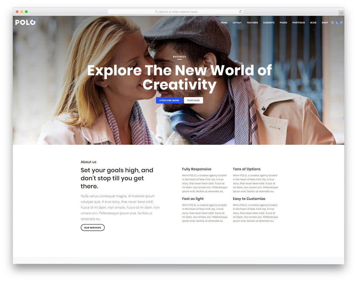 clean html business website template