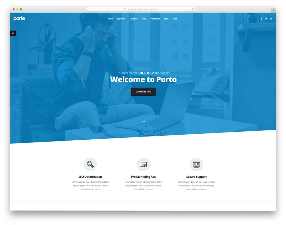 multipurpose HTML website template with multiple demos