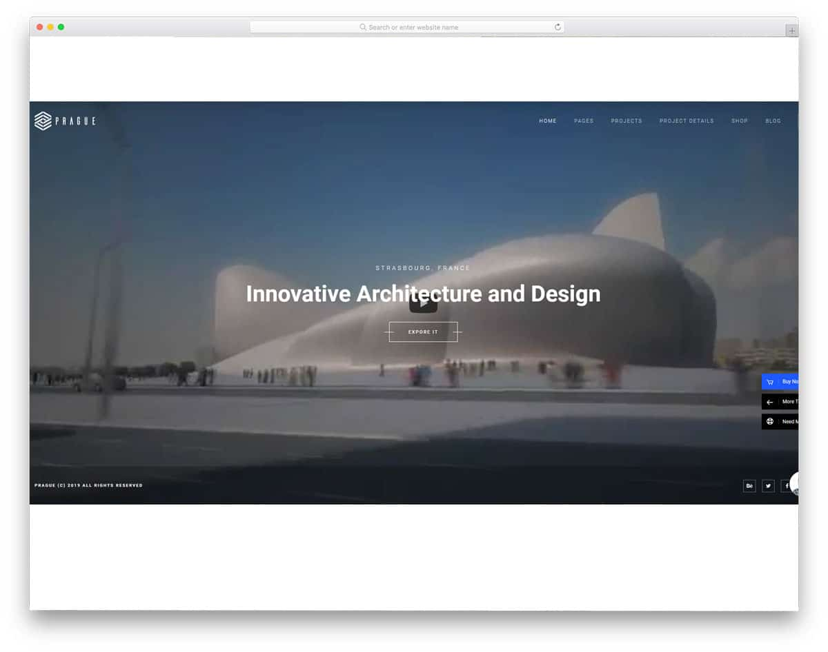 WordPress Themes Video Background for architecture websites