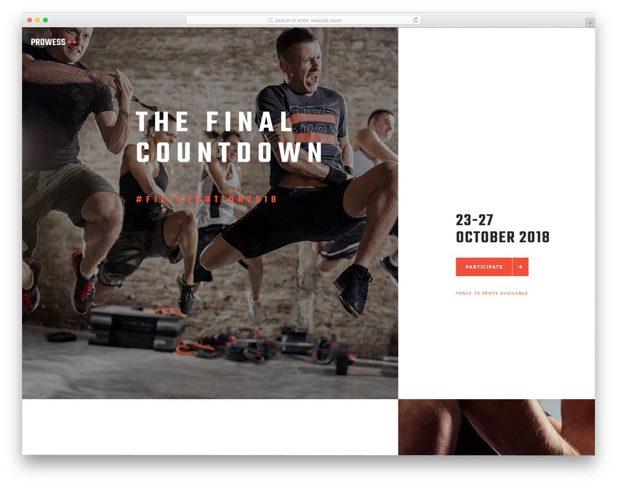 martial arts events and program wordpress theme