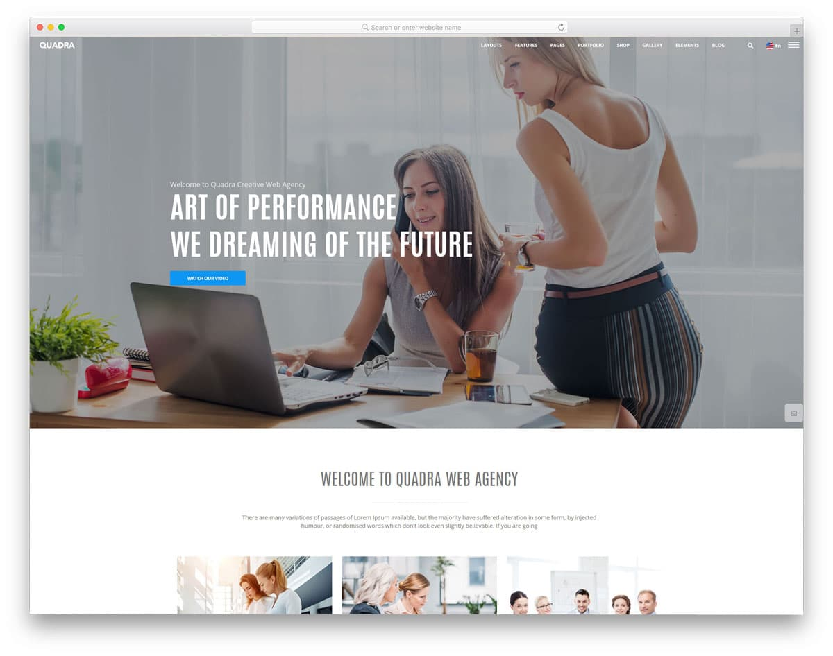 quadra html website template image