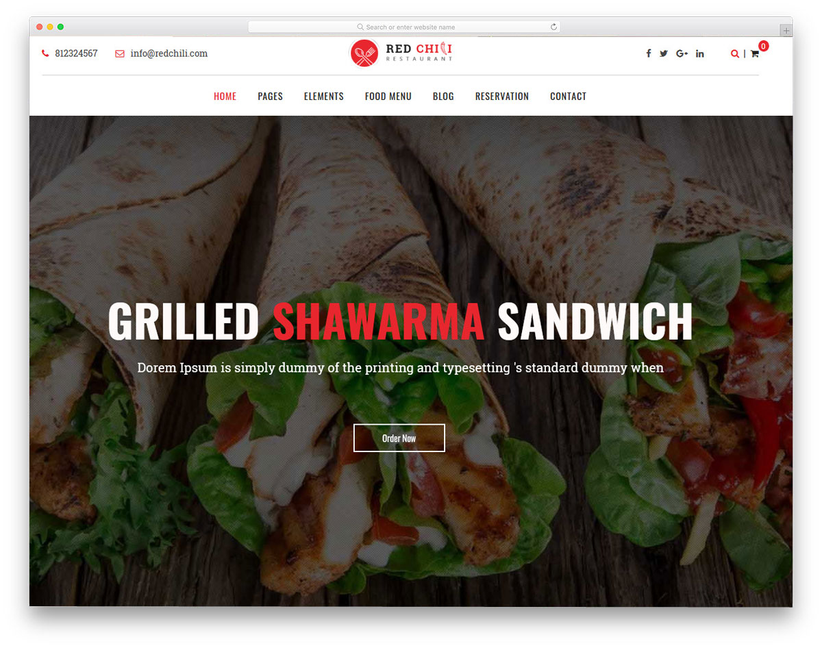 multipurpose restaurant wordpress themes