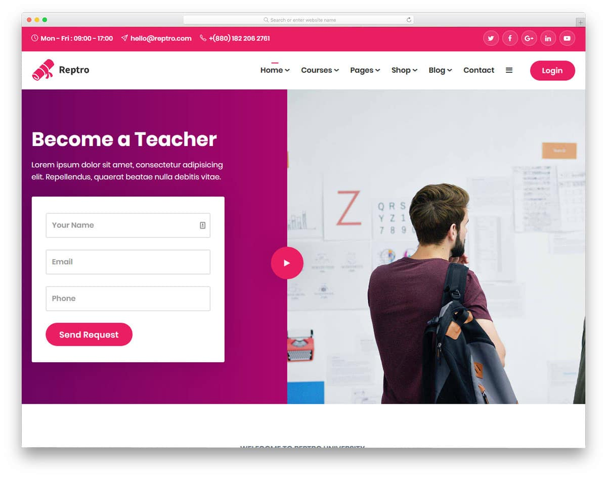 conversion centered education wordpress theme