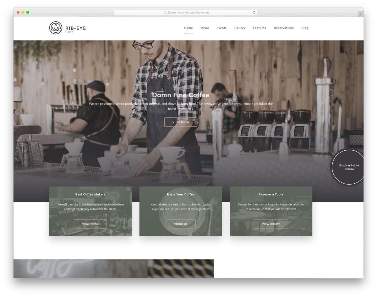 smartly designs WordPress themes for restaurants