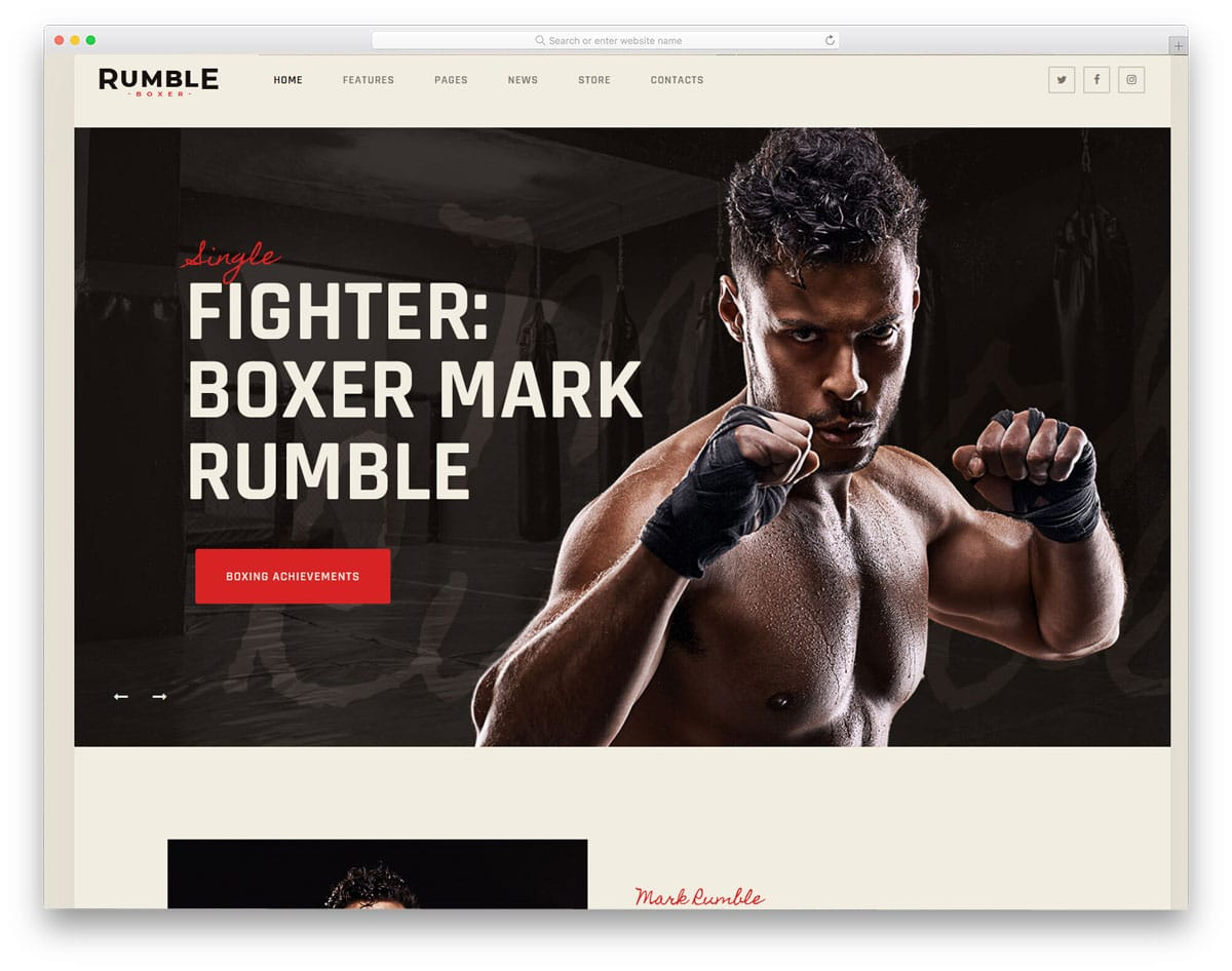 martial arts wordpress theme for boxing