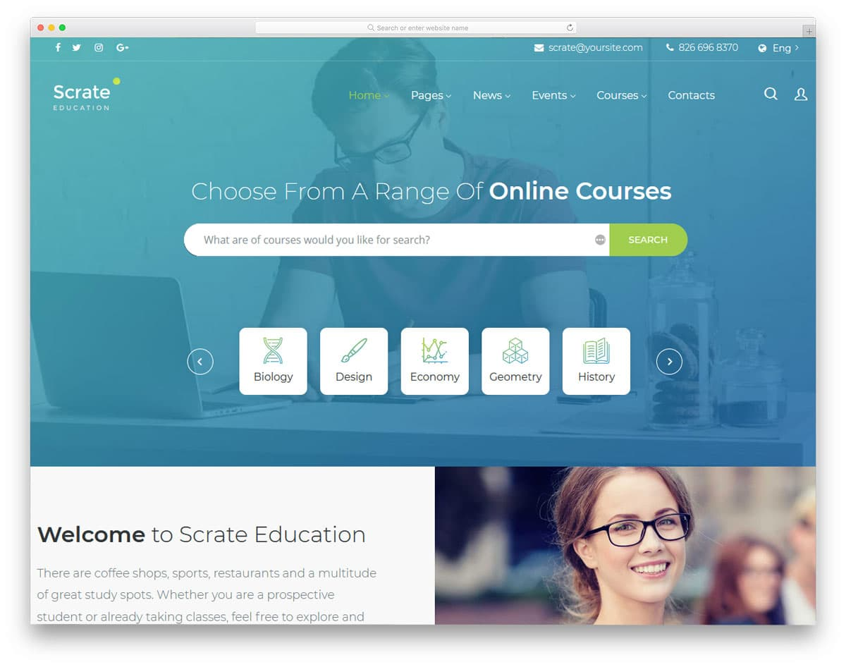 online course wordpress themes for working professionals