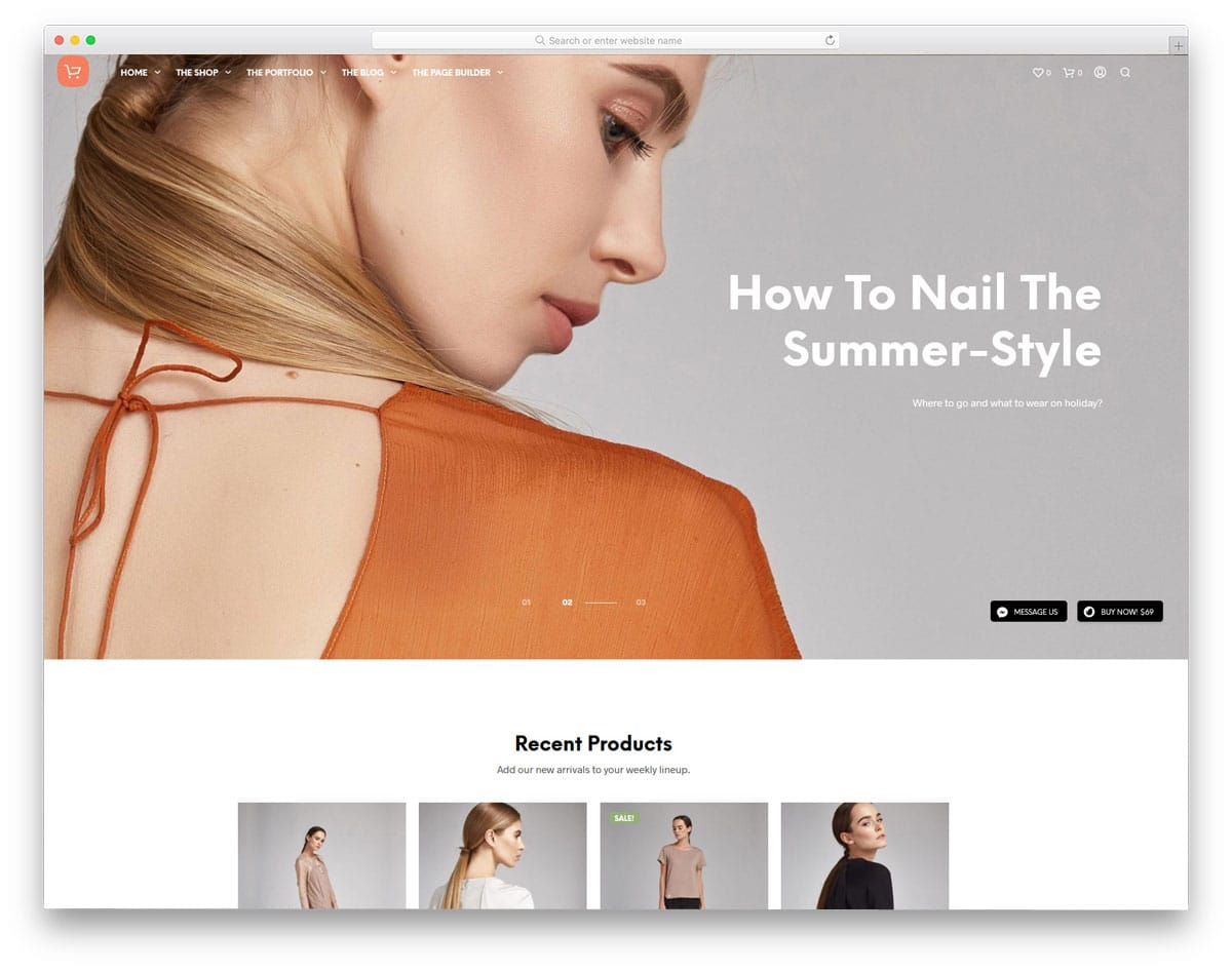 eCommerce theme with good accessible design