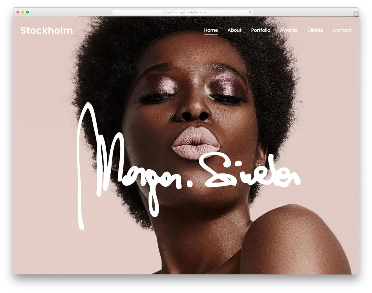colorful modern WordPress theme for artists