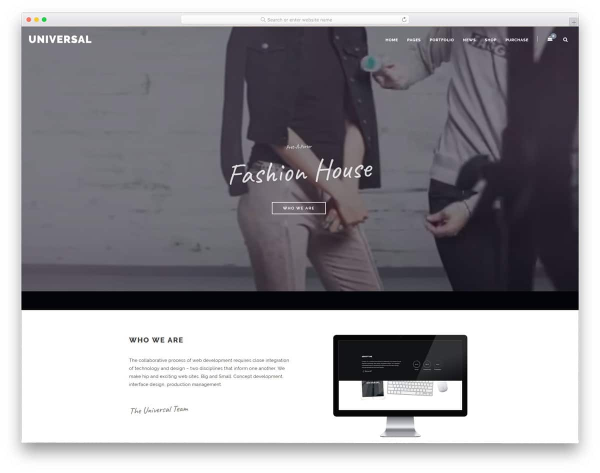 simple and minimal looking multipurpose wordpress theme