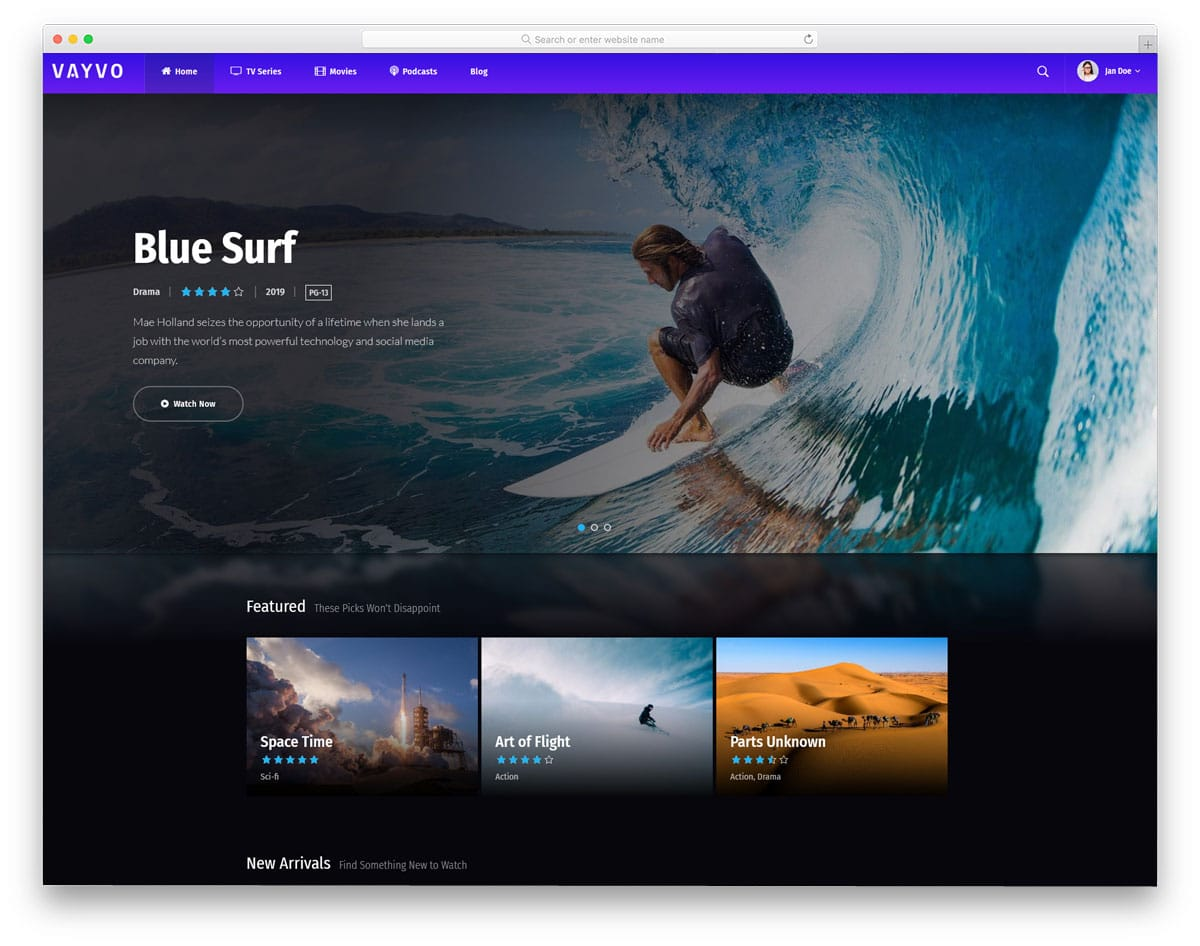 multipurpose WordPress theme with streaming option