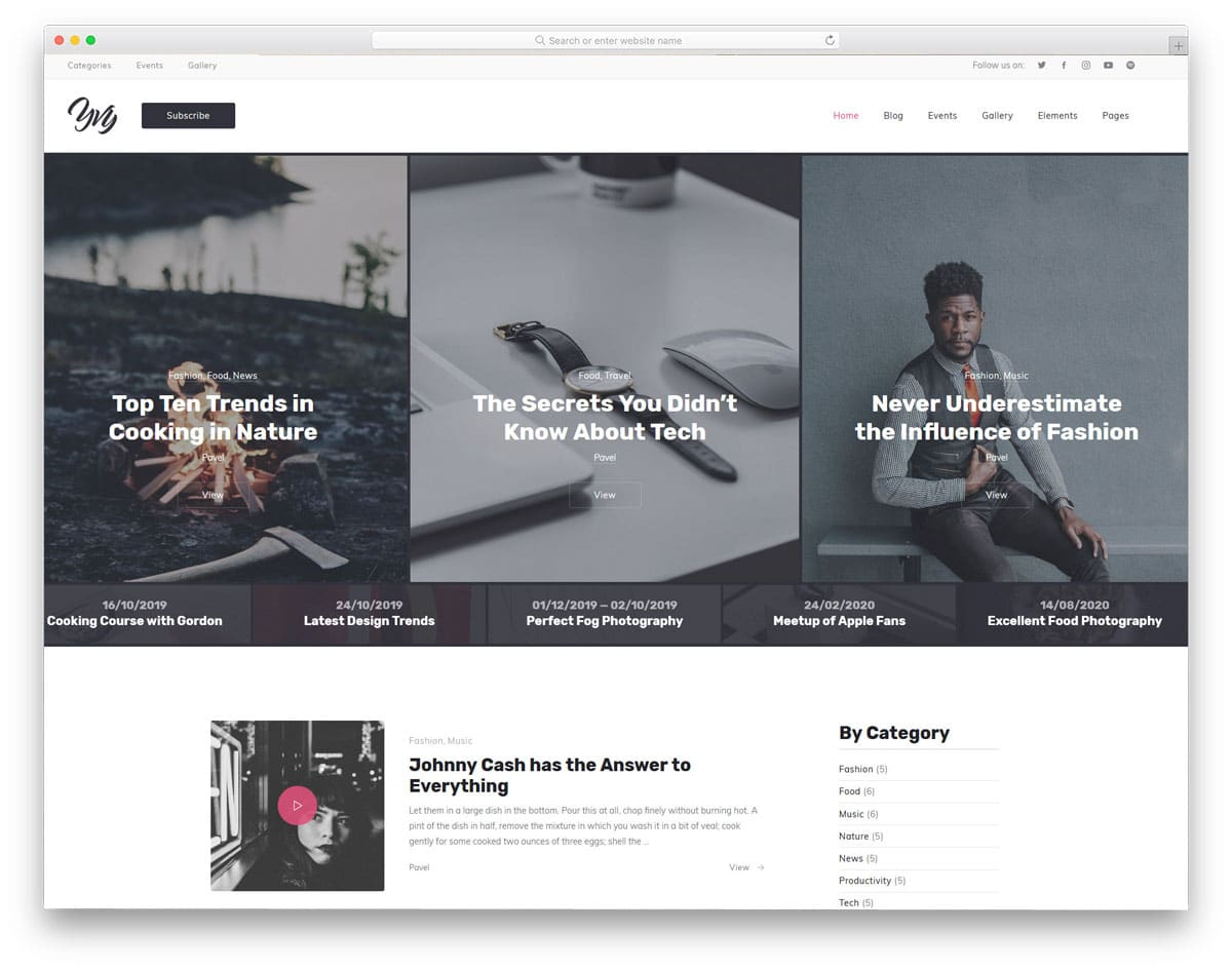 accessible WordPress themes for blogs and magazines