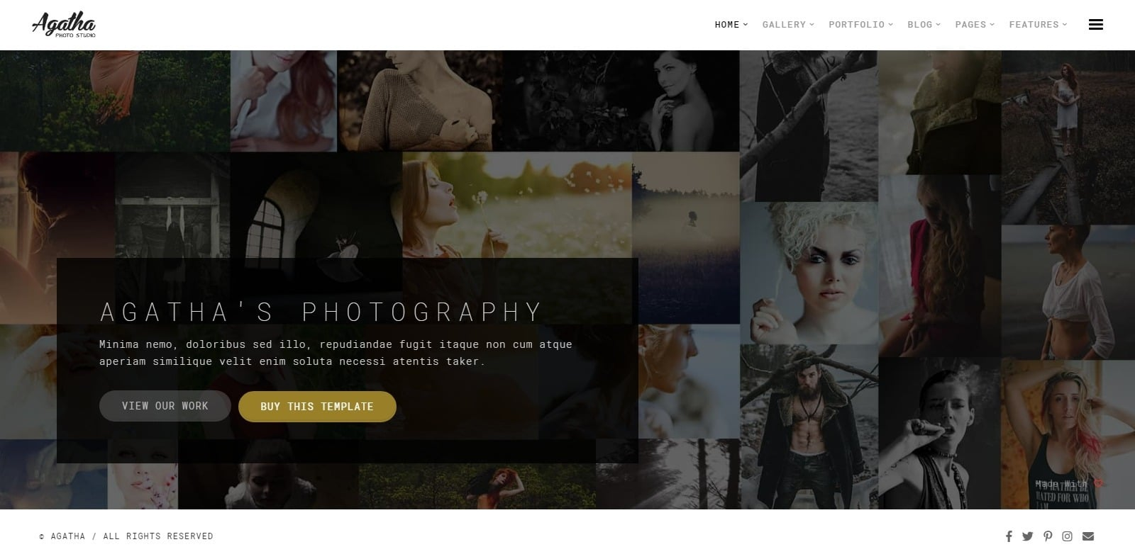 agatha-gallery-website-template