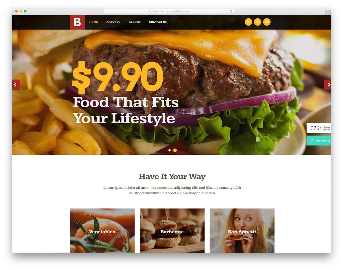 multipurpose wordpress theme with food truck demo