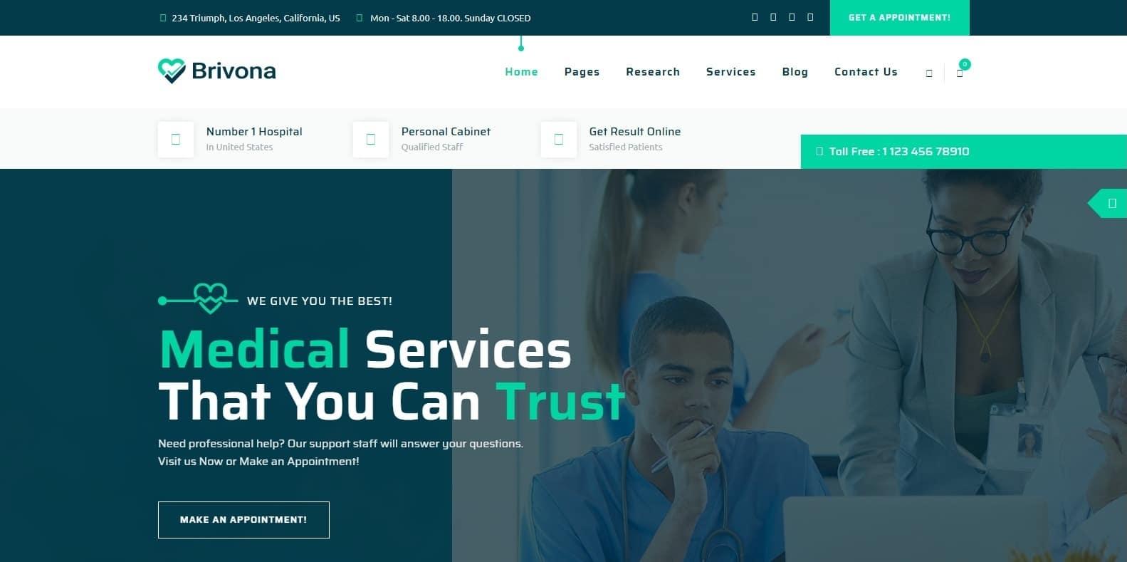 brivona-medical-website-template