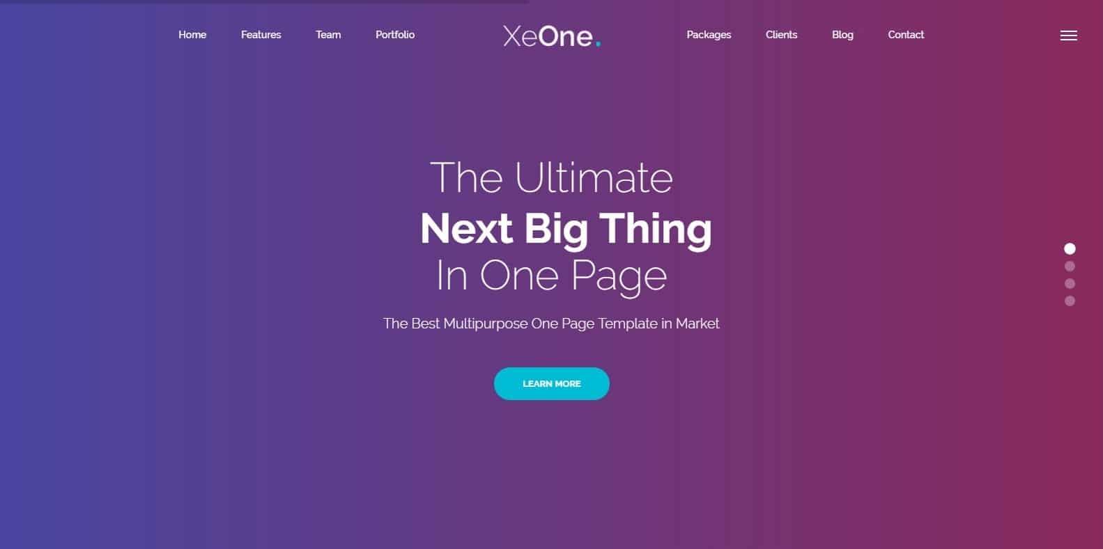 exone-parallax-website-template