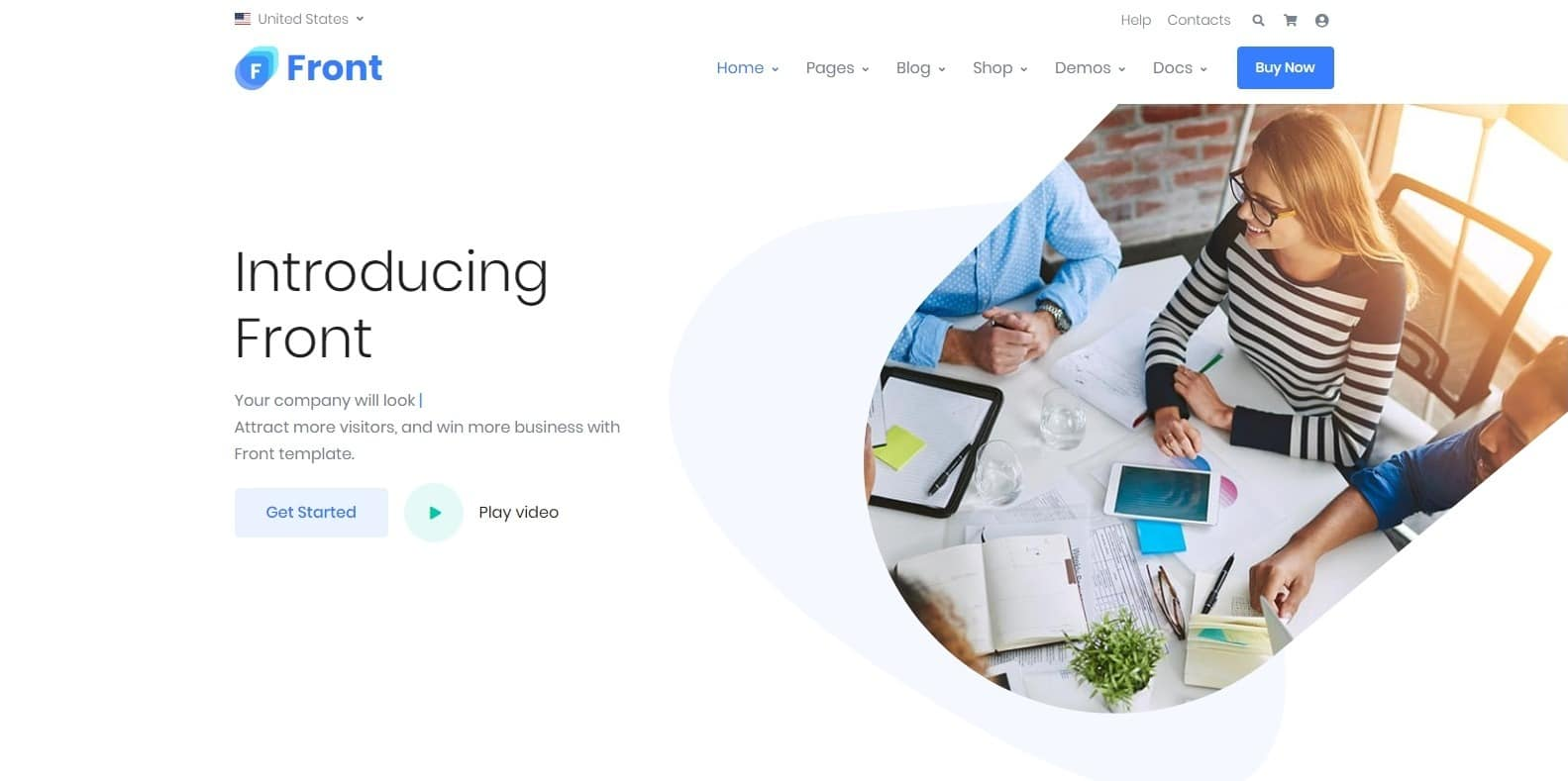 front-multipurpose-website-template
