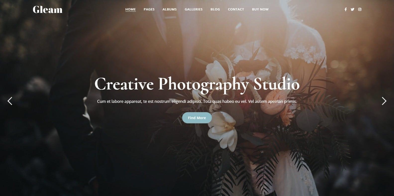 gleam-photo-gallery-templates