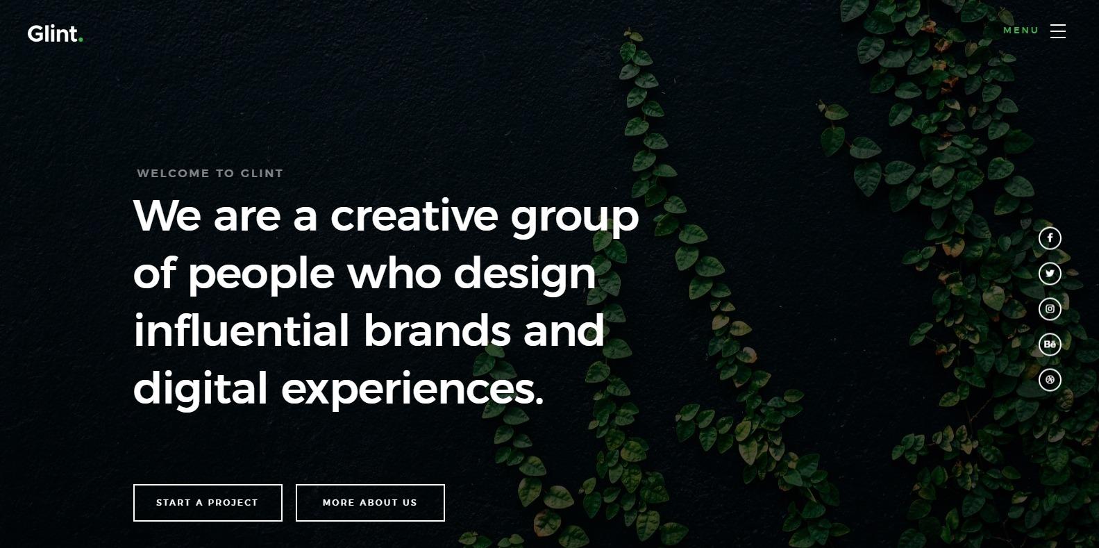 glint-best-website-templates