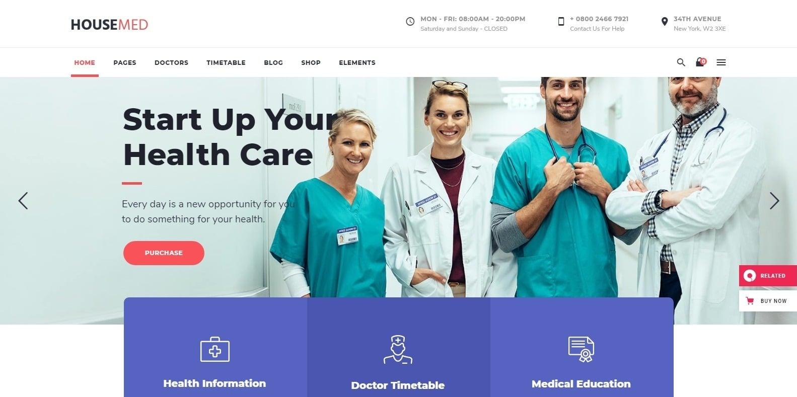 housemed-medical-website-template