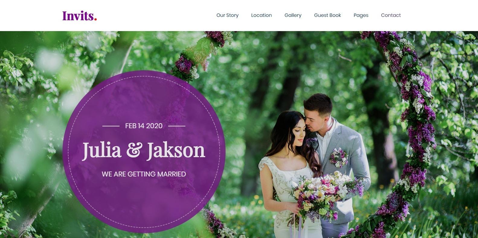 invits-wedding-website-template