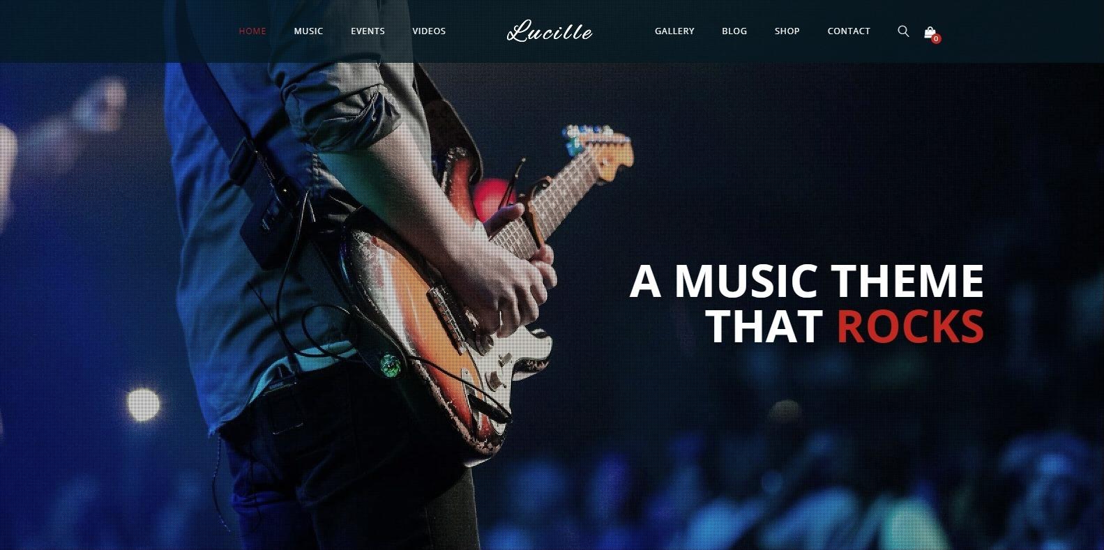 lucille-html-music-website-template