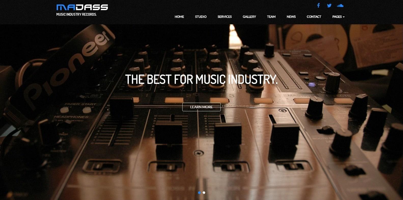 madass-html-music-website-template