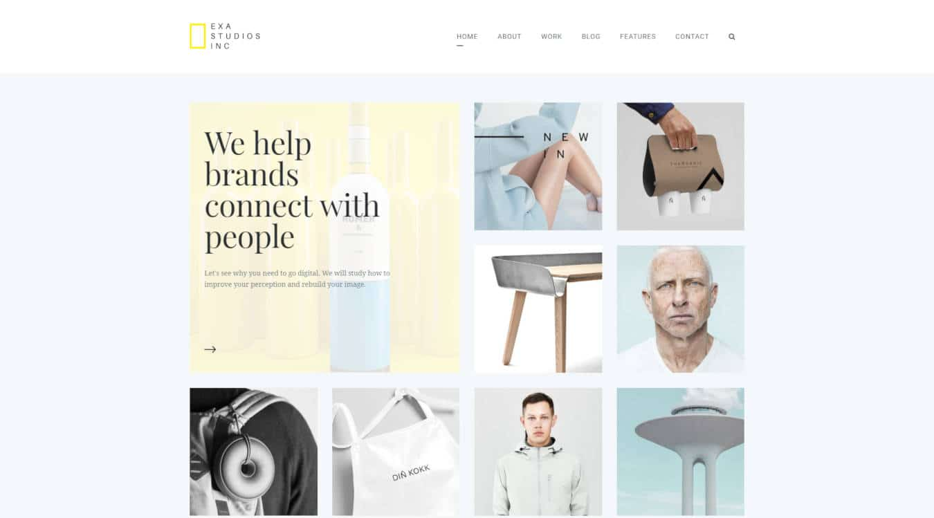 marketing website templates exa