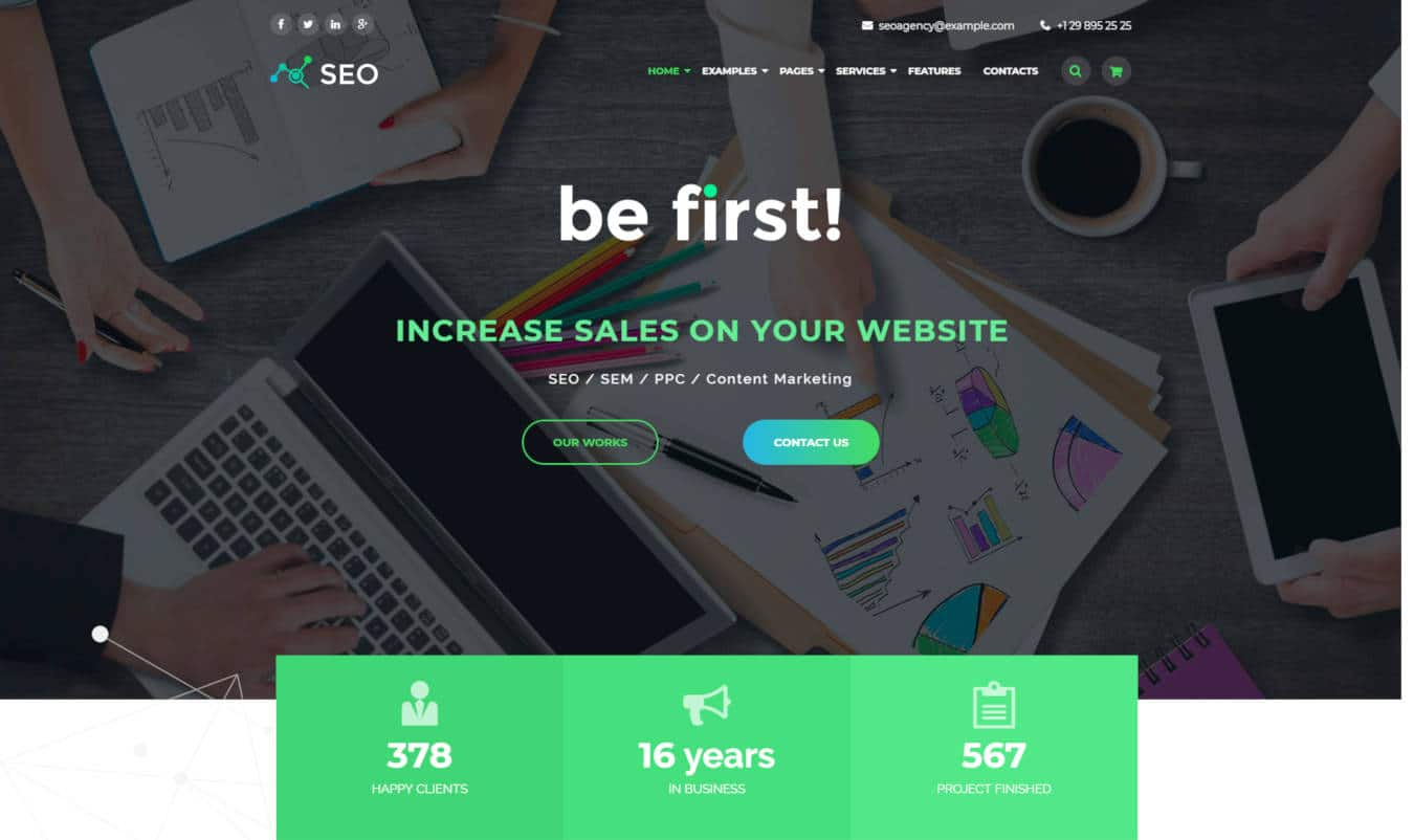 marketing website templates the SEO