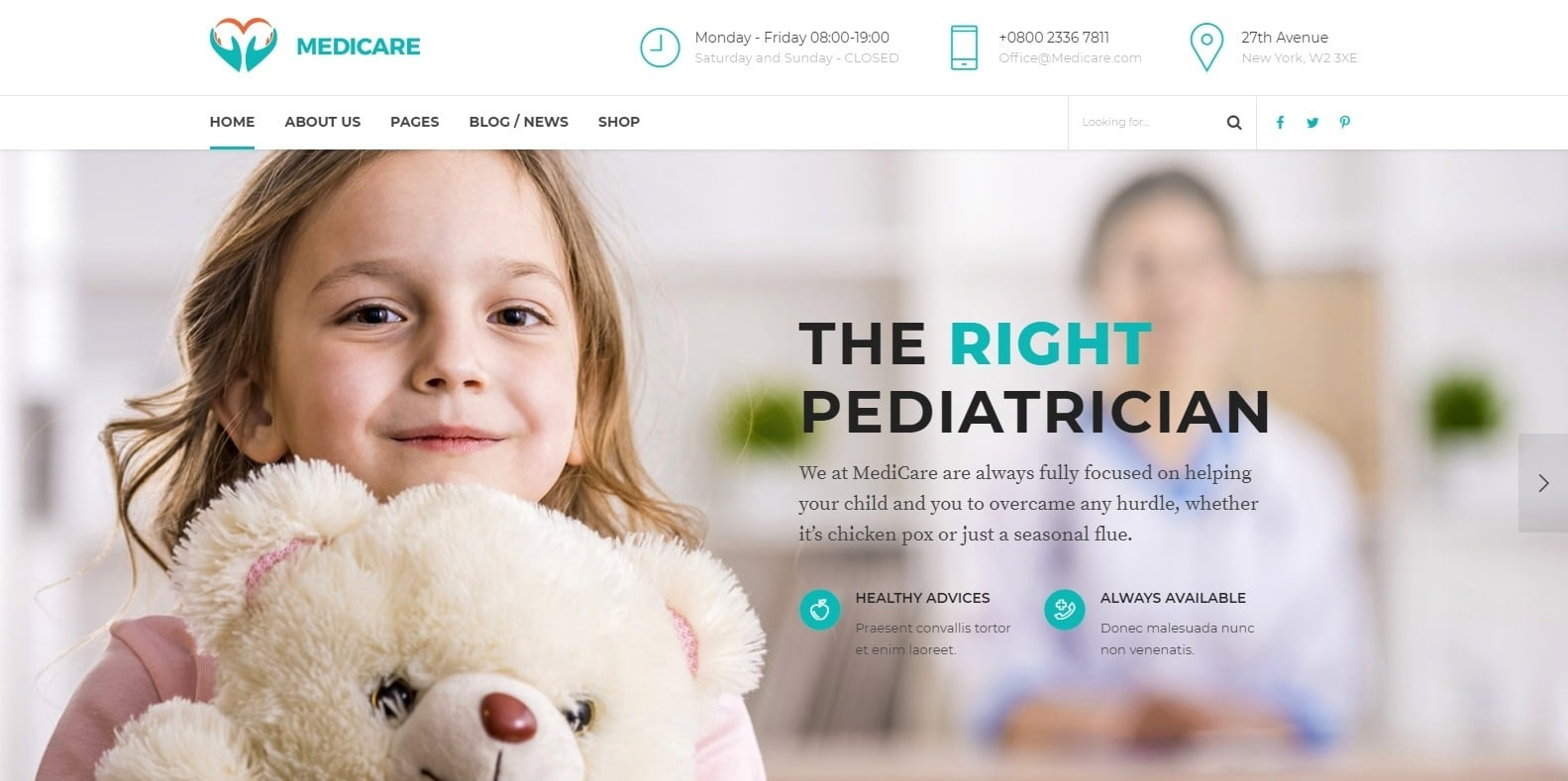 medicare-clinic-medical-website-template