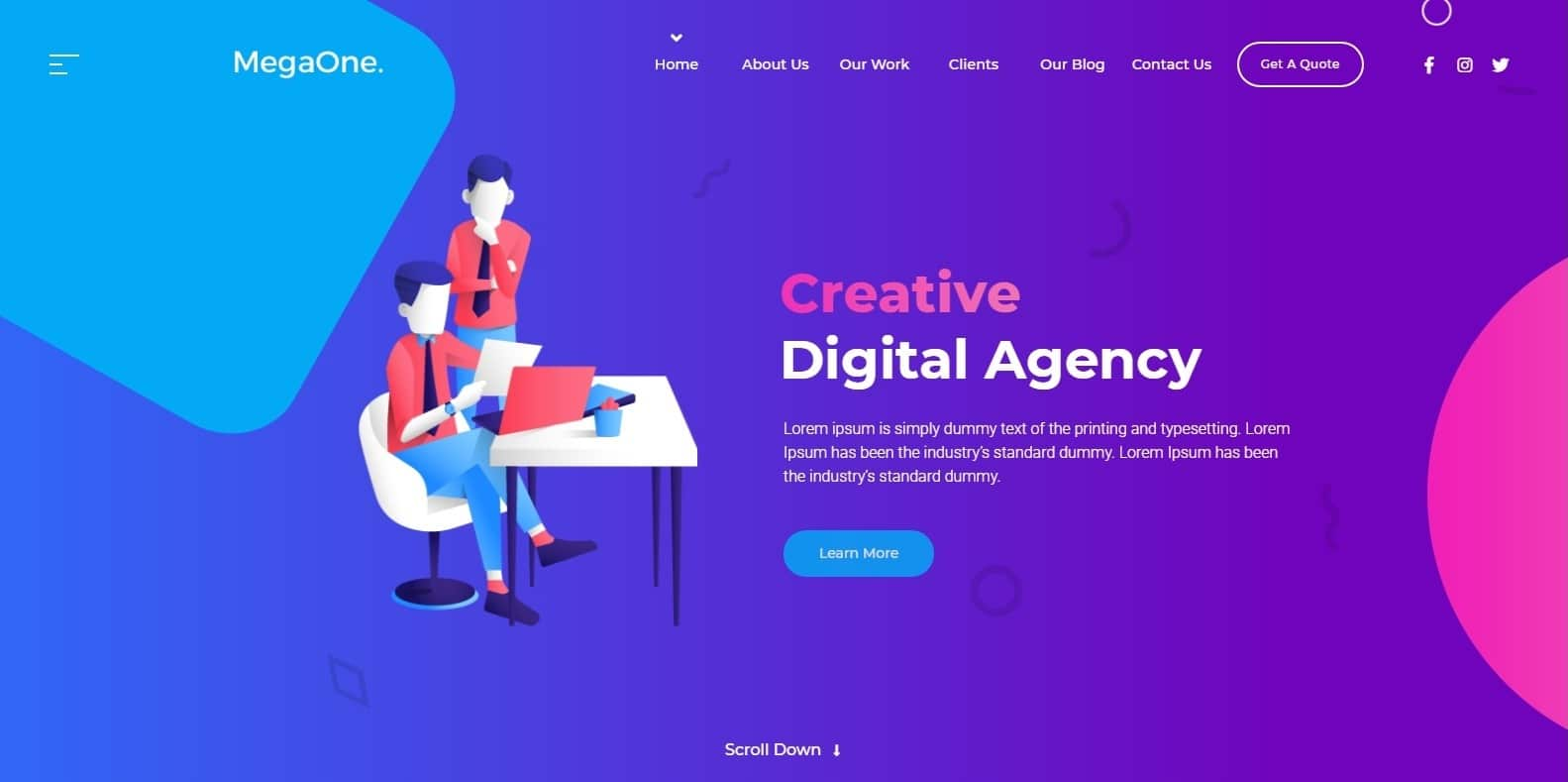 megaone-one-page-website-template