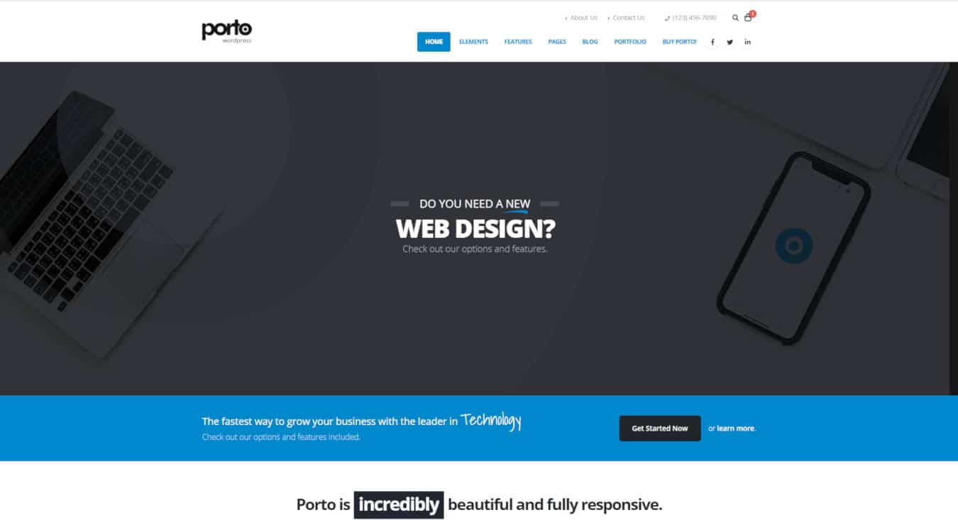 multipurpose website templates porto