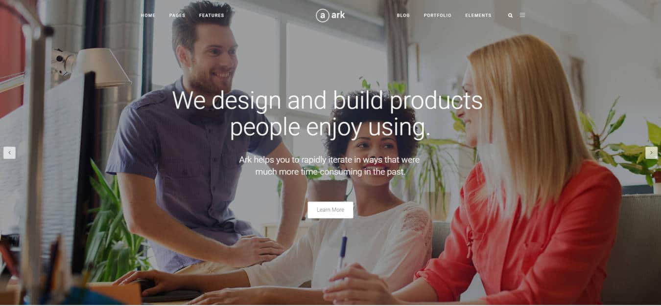 multipurpose website templates the ark