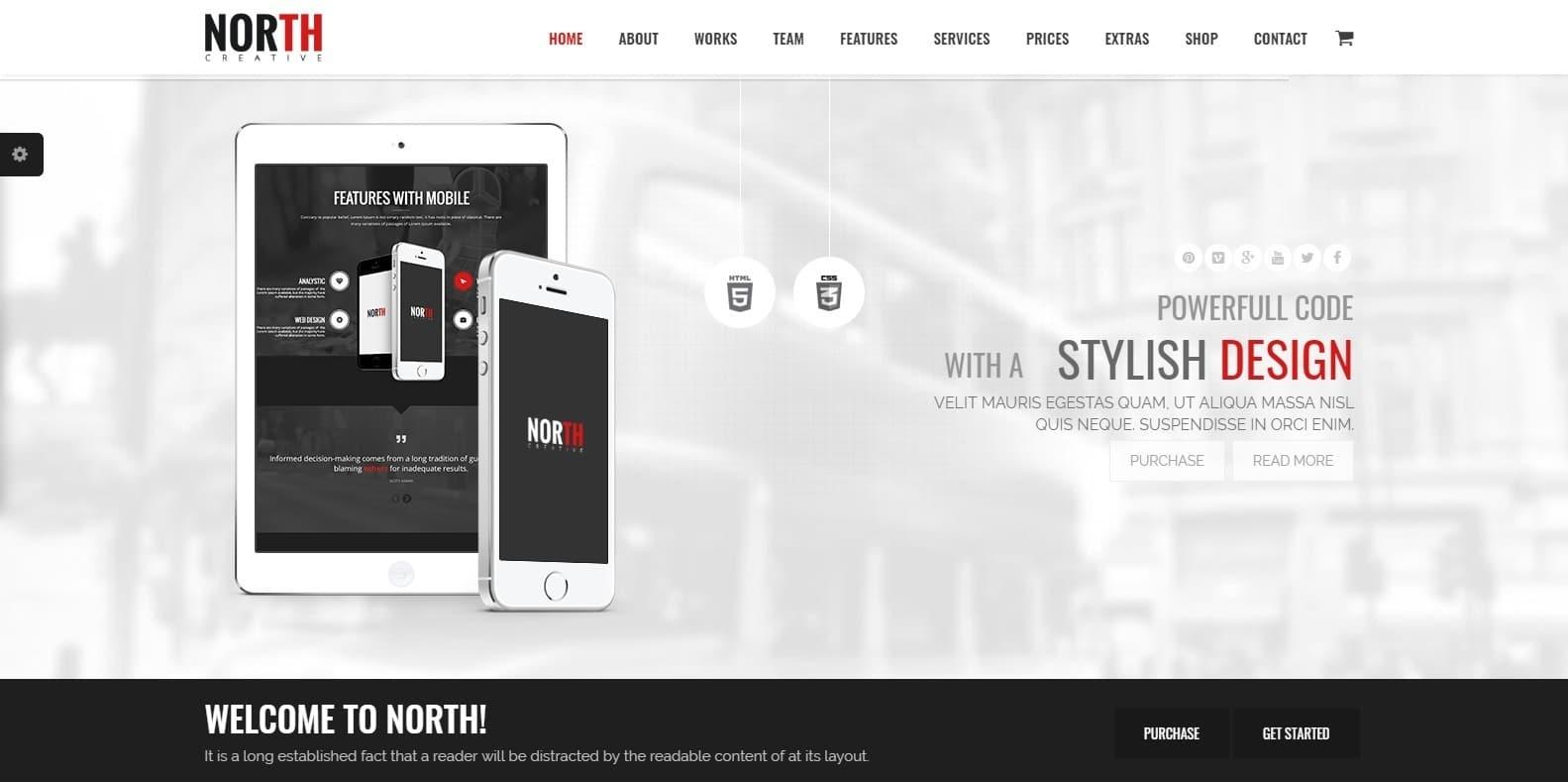 north-parallax-website-template