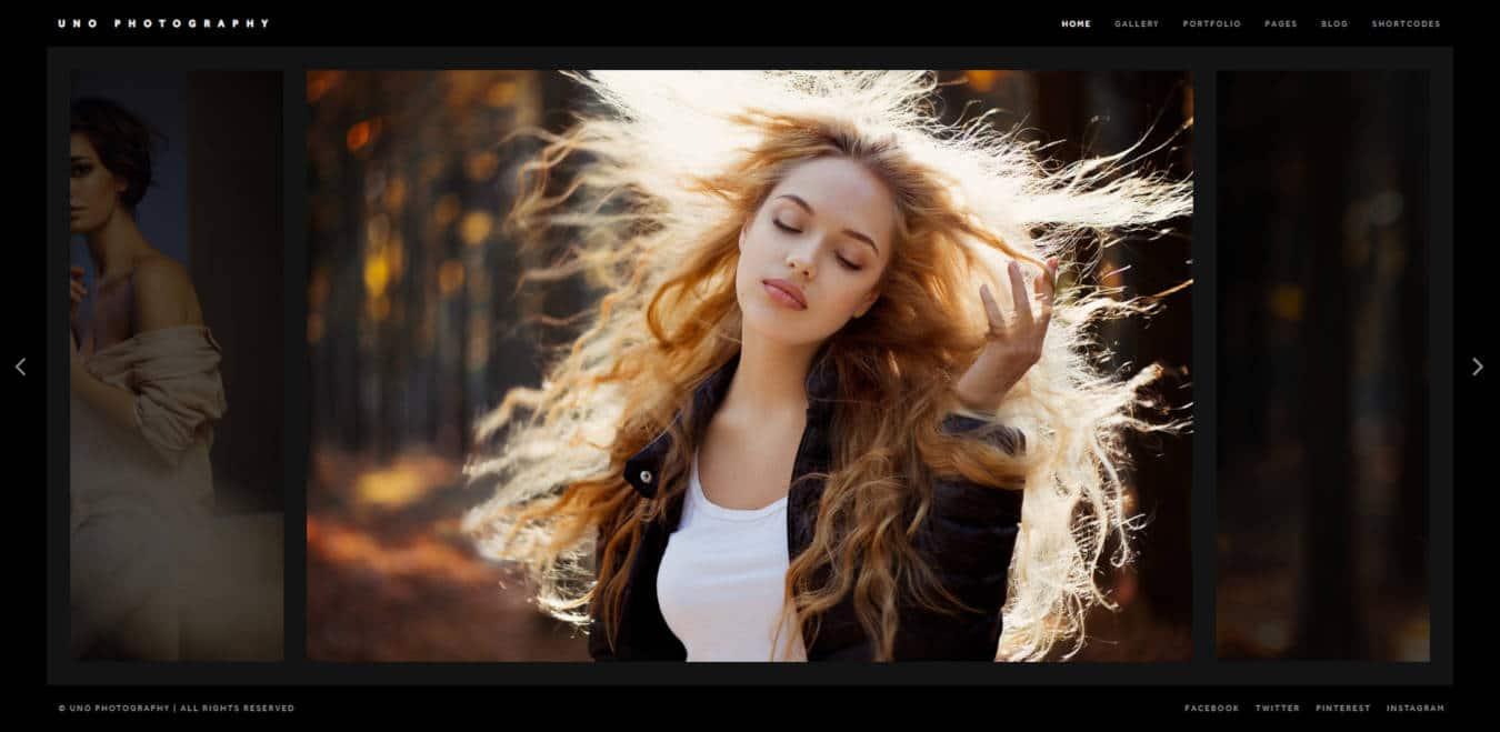 photo gallery website templates Uno