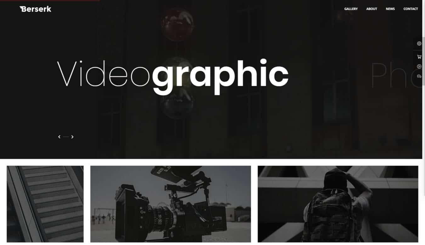 photo gallery website templates berserk