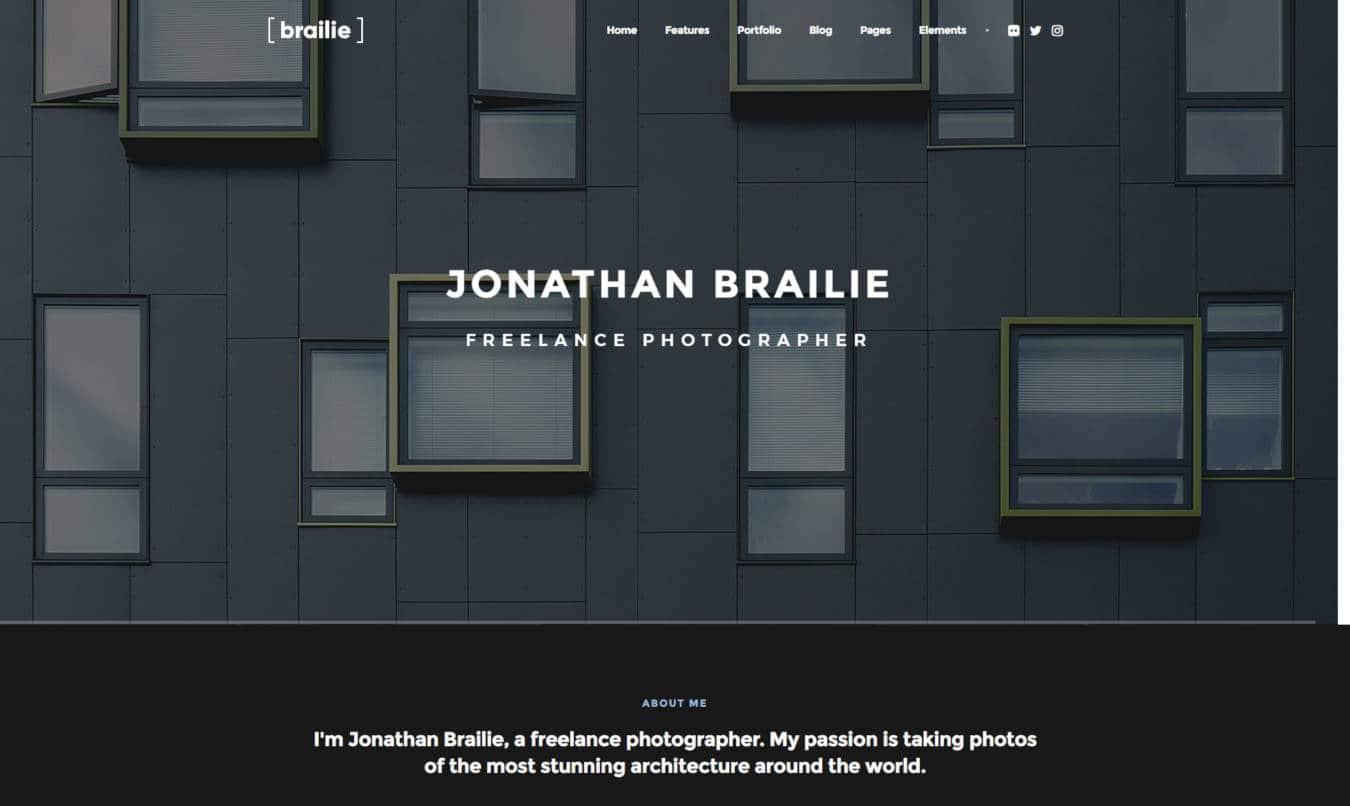 photo gallery website templates brailie