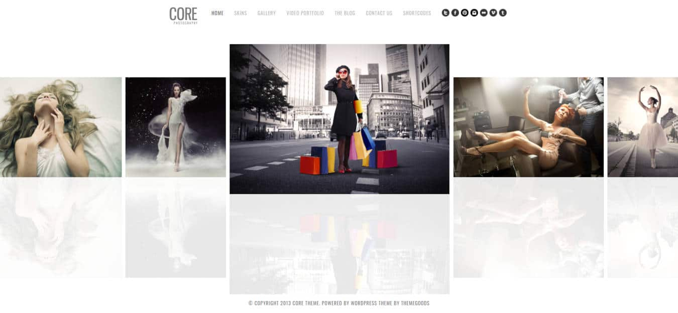 photo gallery website templates core