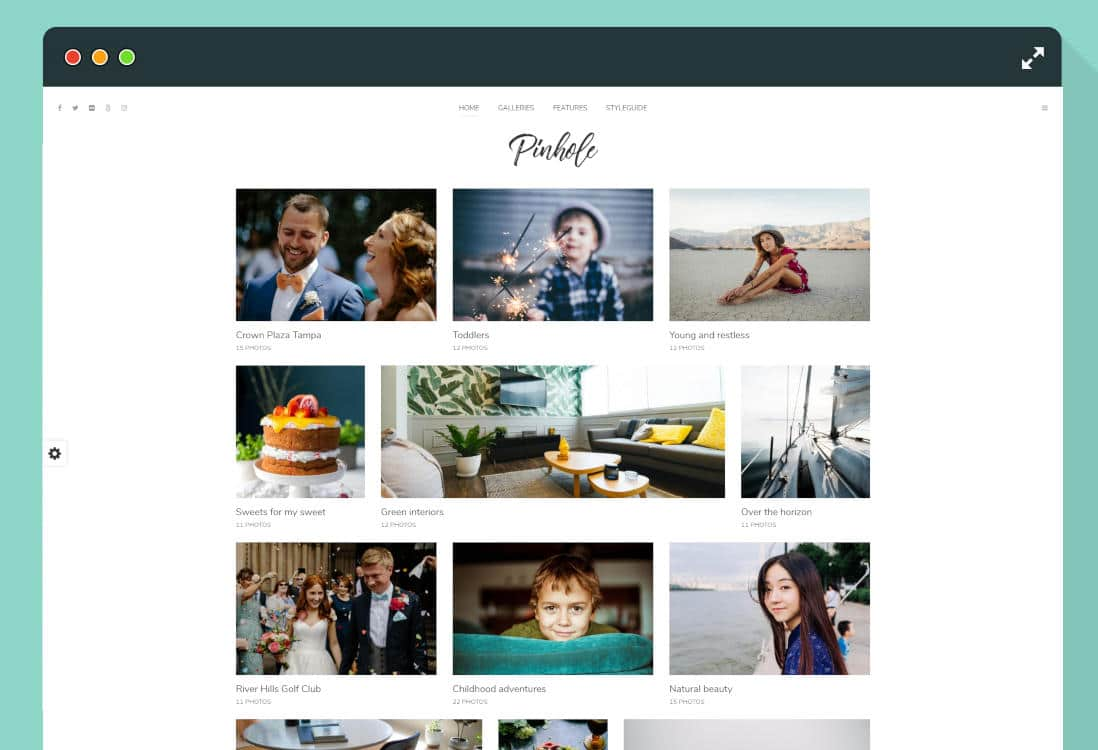 photo gallery website templates featured image