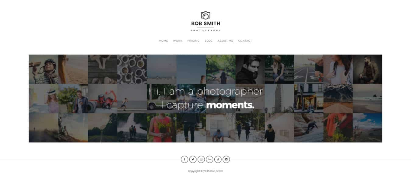 photo gallery website templates photographer