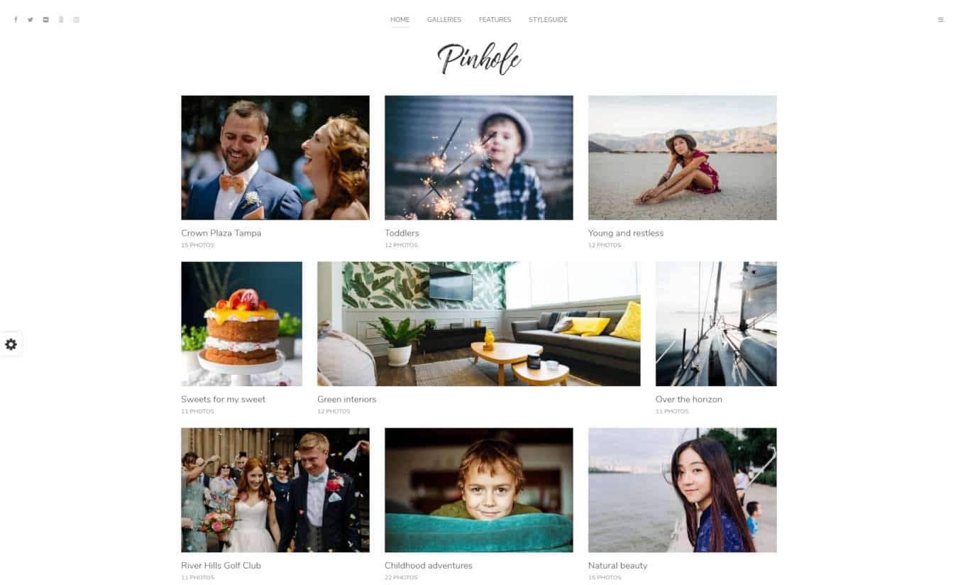 photo gallery website templates pinhole