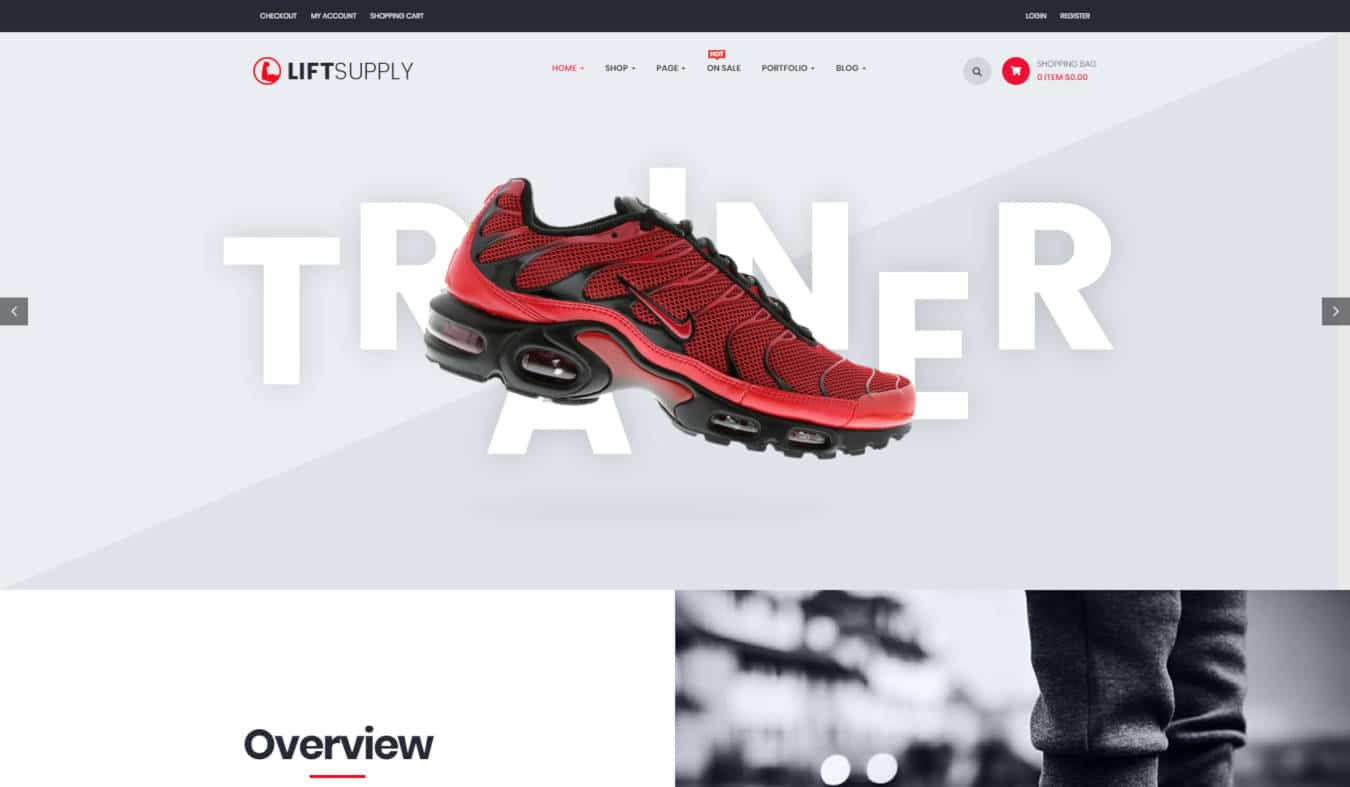 product website templates liftsupply
