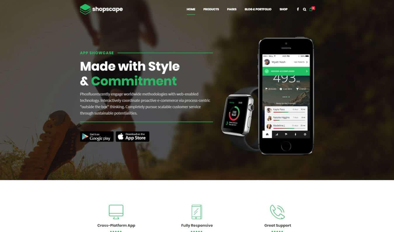 product website templates shopscape