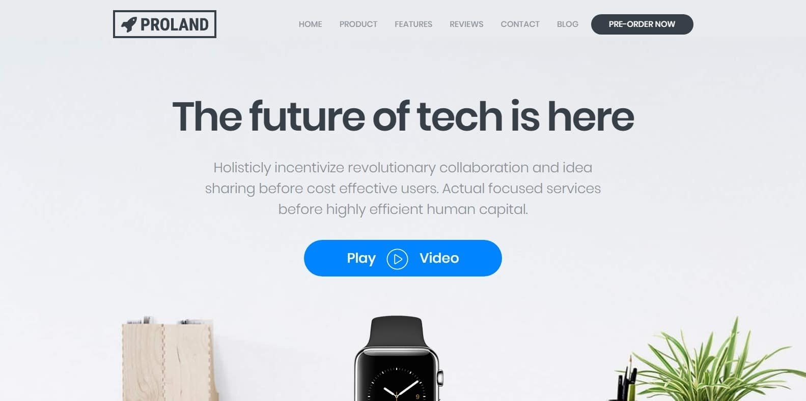 proland-product-website-template