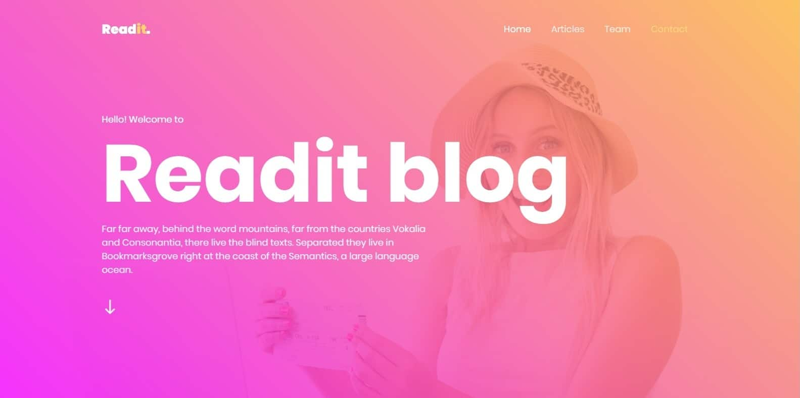 readit-blog-responsive-blogger-template