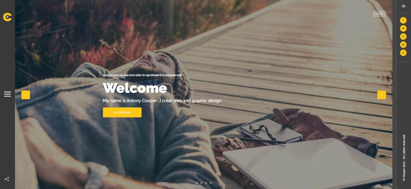 resume website templates cooper