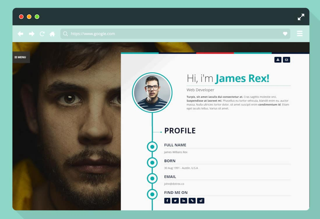 25  premium resume website templates  u0026 wordpress themes 2020