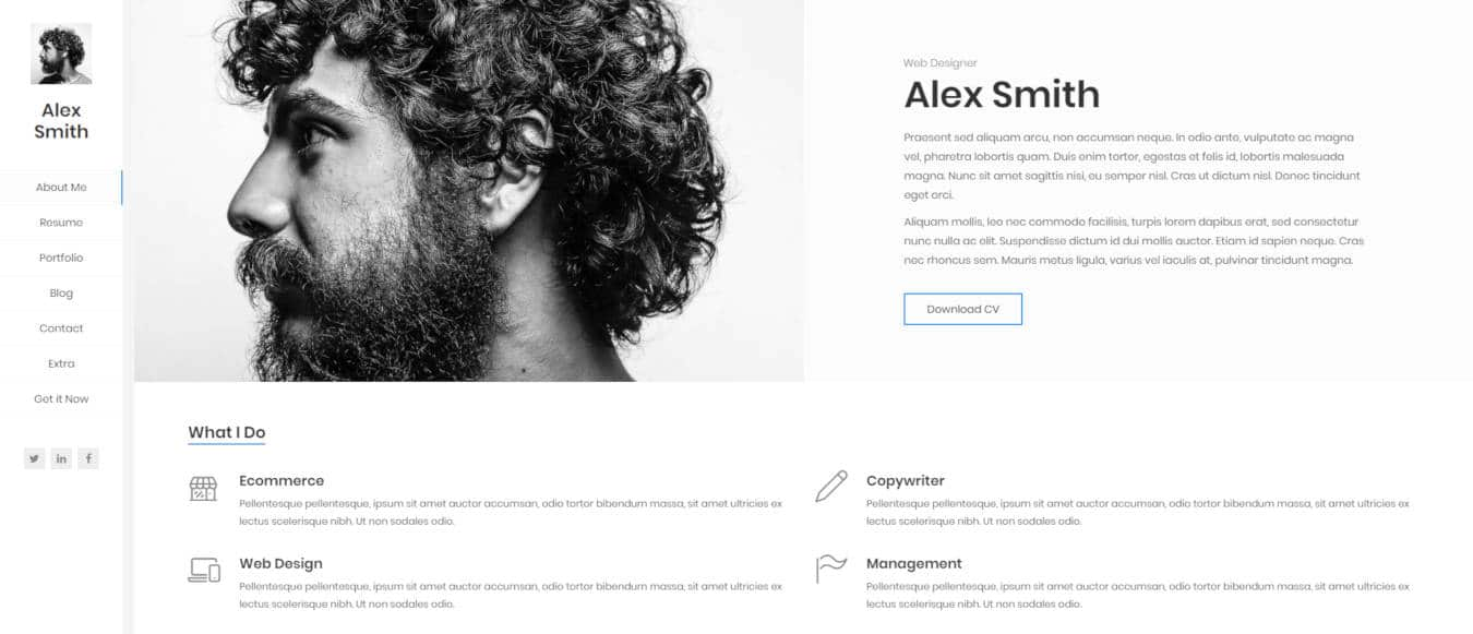 resume website templates kerge